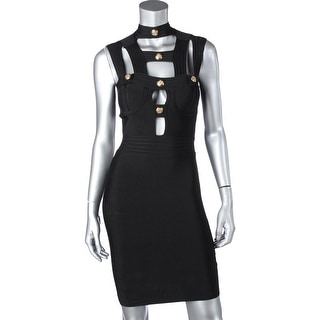 Alice & Elmer Womens Clubwear Dress Button Sleeveless - S