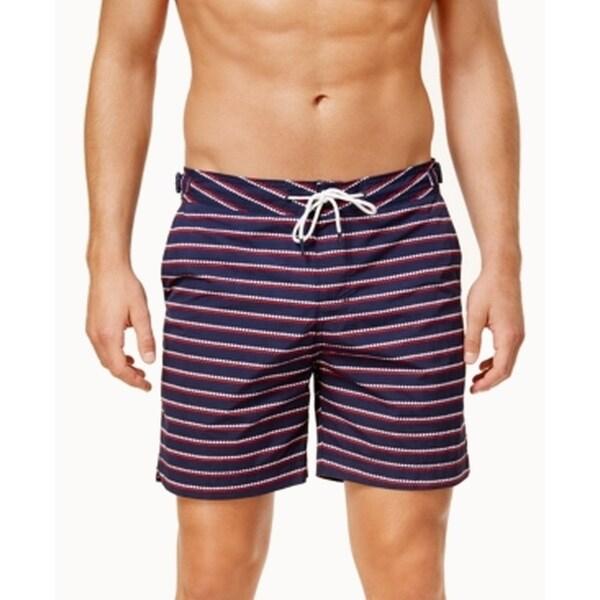 Tommy Hilfiger NEW Blue Mens XL Stripe Stretch Swim Trunks Board Shorts 8c0fffb095c0