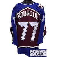 Ray Bourque signed Maroon & Blue TB Custom Stitched Hockey Jersey #77- JSA Hologram