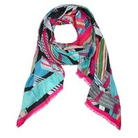 CTM® Women's Geometric Print Oblong Scarf - One size