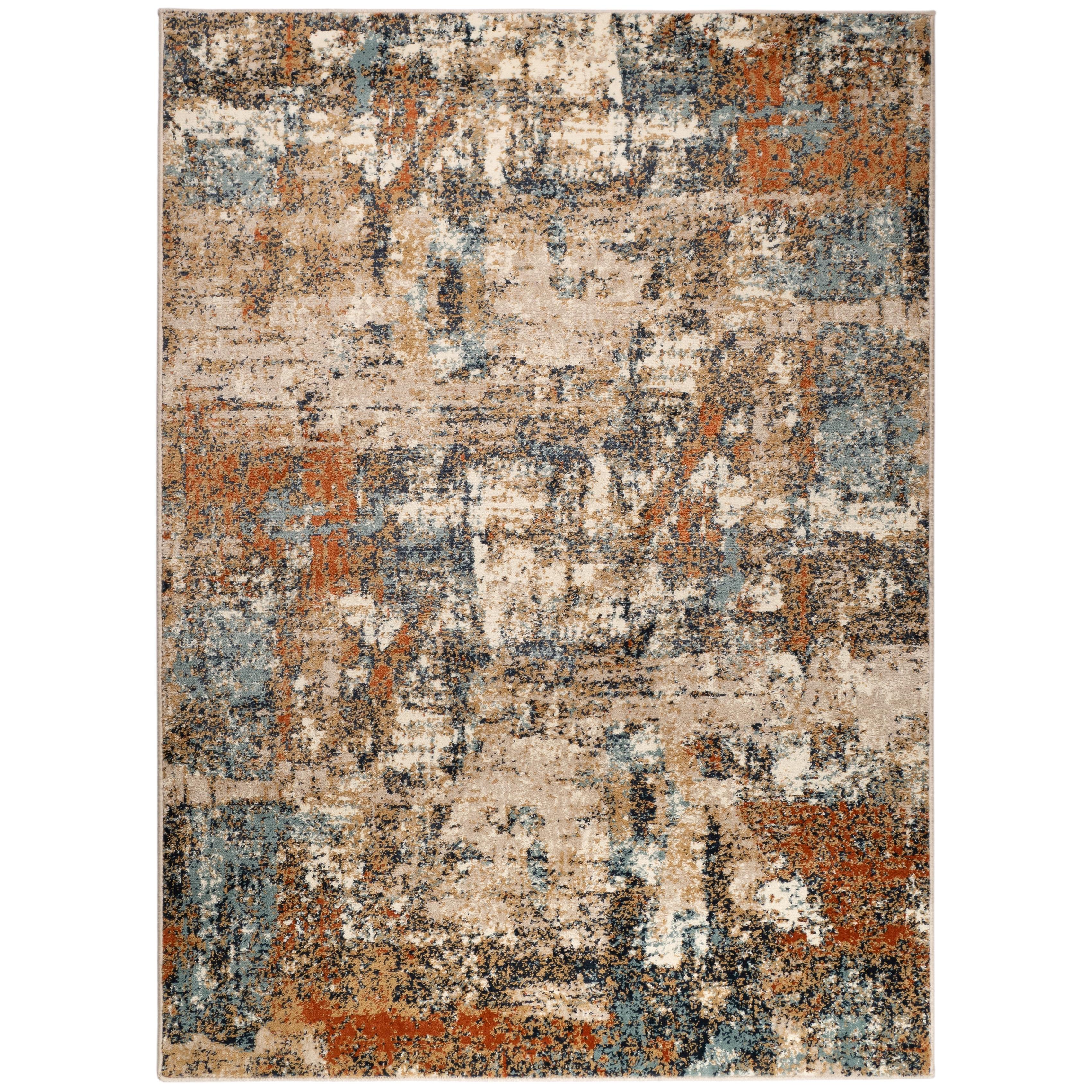 Alurea Classic Abstract Orange Beige Area Rug Overstock 31917703
