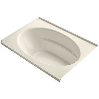 """Kohler K-1113-R Windward Collection 60"""" Drop In Three Wall Alcove Soaking Bath Tub with Right Hand Drain - White"""