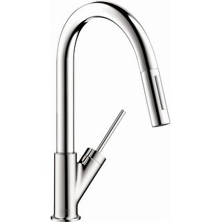Axor 10824  Starck Prep Pull-Down Kitchen Faucet with Magnetic Docking Metal Spray Head and Joystick Handle - Engineered in