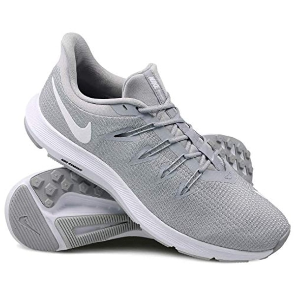 dfa05a5cebb Shop Nike Mens Quest Running Shoe Wolf Grey White-Pure Platinum ...