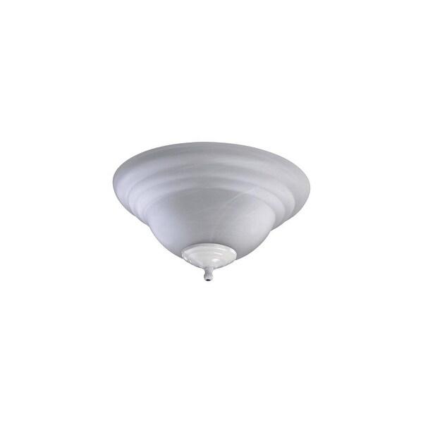 Quorum International 1133 2 Light Fan Light Kit with Glass Bowl Shade - Satin Nickel/White