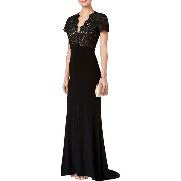 0814a783dfae4 Shop Betsy & Adam Womens Evening Dress Lace Cap Sleeves - Free Shipping  Today - Overstock - 18387617
