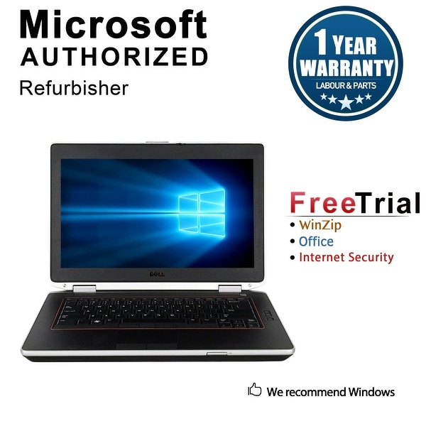 "Refurbished Dell Latitude E6420 14.0"" Laptop Intel Core i5 2520M 2.5G 12G DDR3 500G DVD Win 10 Pro 1 Year Warranty - Silver"