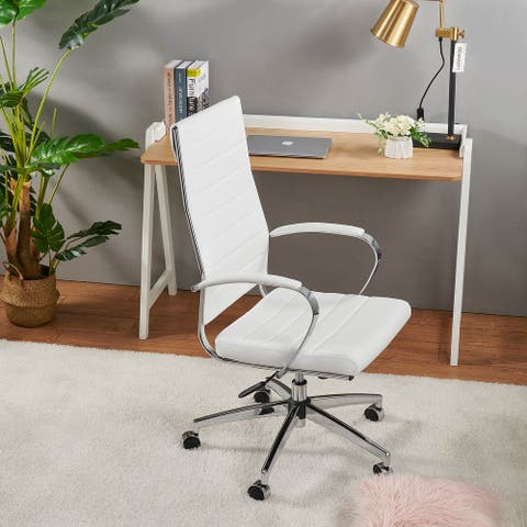 LUXMOD® High Back Office Chair,Adjustable Swivel Chair , Ergonomic Desk Chair for Extra Back & Lumbar Support.