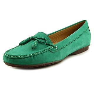 Sebago Meriden Tie Women Round Toe Leather Green Loafer