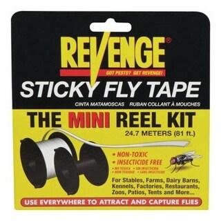 Bonide 46130 Revenge Sticky Fly Tape Mini Reel Kit, 81'