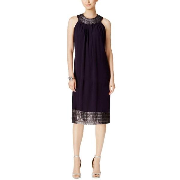 ebcb9d2a84d15 Shop SL Fashions Womens Party Dress Metallic Halter - Free Shipping ...