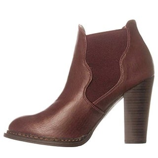 Leila Stone Jasleen Ankle Boots - Wine