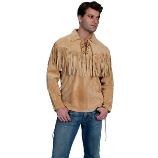 Scully Western Shirt Mens Trapper Long Sleeve Fringe Bourbon