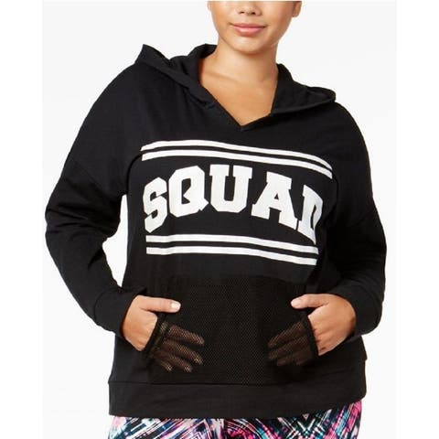 Material Girl Women's Plus Size Squad Graphic Hoodie (1XL) - 1X-Large