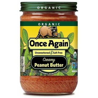 Once Again - 100% Organic Smooth Peanut Butter ( 12 - 16 OZ)