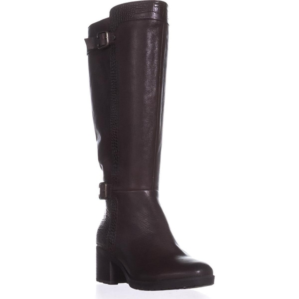 naturalizer Rozene Wide Calf Riding Boots, Ox Brown - 6.5 w us