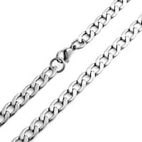 Bling Jewelry Large 8mm Curb Cuban Stainless Steel Chain Necklace 24 Inches
