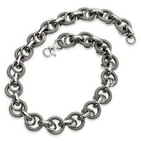 Chisel Stainless Steel Fancy Link Necklace (21 mm) - 22 in