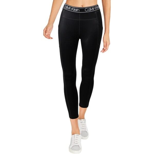 Calvin Klein Performance Womens Athletic Leggings High Waist Fitness - Black - S. Opens flyout.
