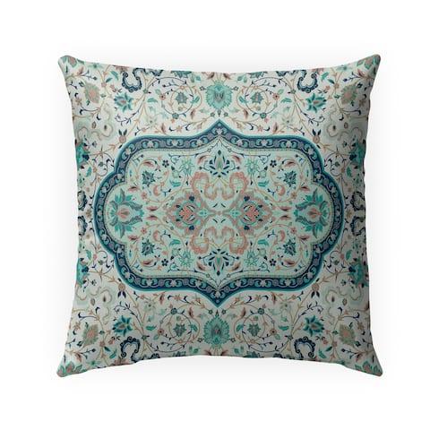 EMPIRE TURQUOISE Indoor-Outdoor Pillow By Marina Gutierrez