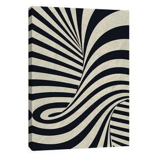 """PTM Images 9-109003  PTM Canvas Collection 10"""" x 8"""" - """"Black Swirls C"""" Giclee Abstract Art Print on Canvas"""