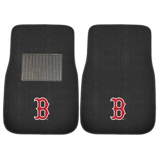 "MLB - Boston Red Sox 2-piece Embroidered Car Mats 18""x27"""
