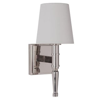 """Craftmade 44601 Ella Single Light 5"""" Wide Bathroom Sconce with White Linen Shade"""
