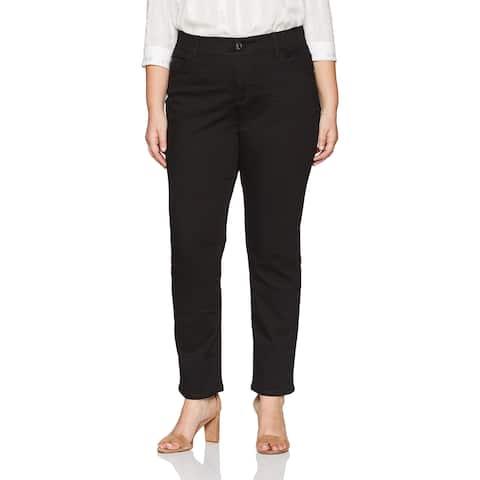 Lee Womens Jean's Black Size 30W Plus Petite Stretch straight-Leg