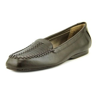 Array Camille Women N/S Square Toe Leather Brown Flats