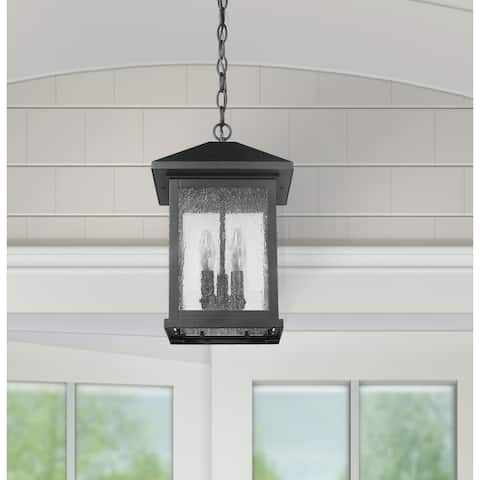 Carriage Style Outdoor Black Pendant