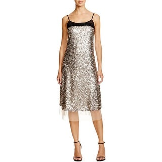 DKNY Womens Party Dress Sequined Knee-Length