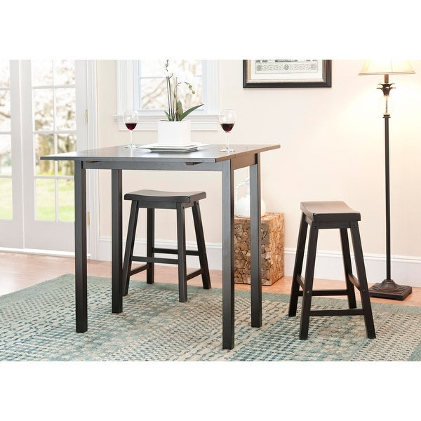 """SAFAVIEH Graham 3-Piece Counter-Height Set Pub Table - 36"""" W x 36"""" L x 36"""" H. Opens flyout."""