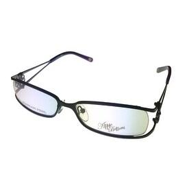 Apple Bottoms Womens Opthalmic Eyeglass Rimless Rectangle, 705 2 MBLK - Medium