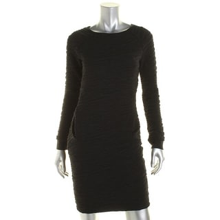 French Connection Womens Rocky Road Textured Sweaterdress - 4