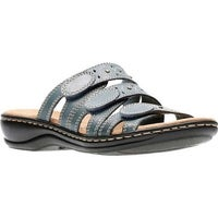 6394fa62a5f Shop Clarks Women s Leisa Cacti Black Leather - On Sale - Free ...