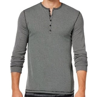 Kenneth Cole Reaction NEW Gray Mens XL Ribbed Henley Night Shirt
