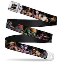 Street Fighter Logo Full Color Black Street Fighter 14 Character Stance Seatbelt Belt