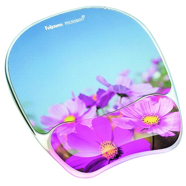 Fellowes 9179001 Photo Gel Mouse Pad Wrist Rest With Microban