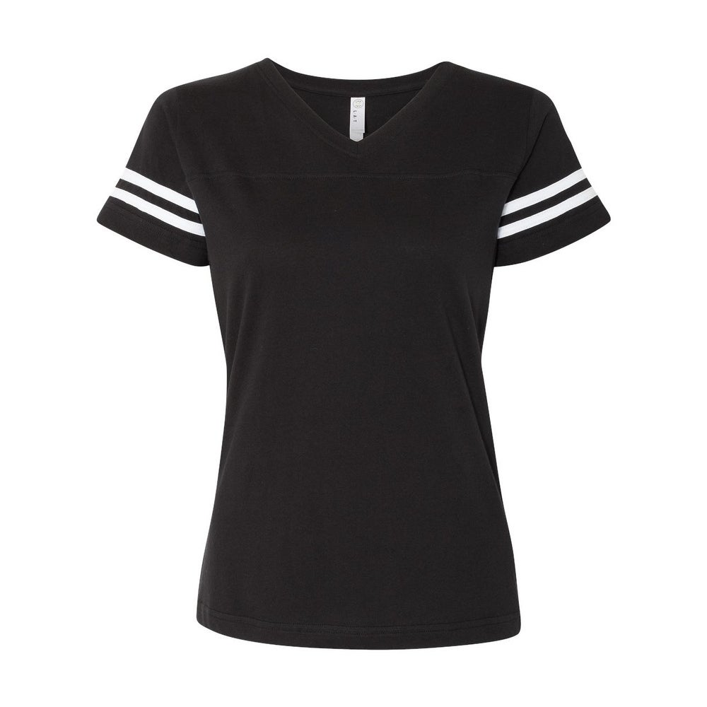 Womens Football V-Neck Fine Jersey Tee by