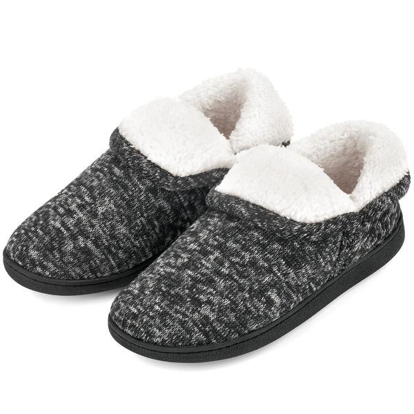 VONMAY Women's Fuzzy Slippers Boots Memory Foam Booties