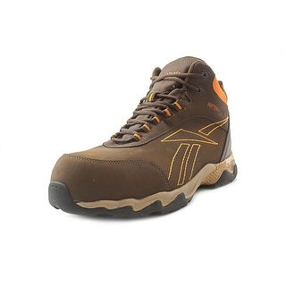 Reebok Beamer Hi Top Men Round Toe Leather Brown Work Shoe