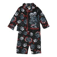 Star Wars Little Boys Black Darth Vader Allover Print 2 Pc Pajama Set 2-4T