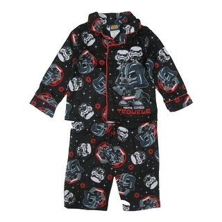 Star Wars Little Boys Black Darth Vader Allover Print 2 Pc Pajama Set 2-4T