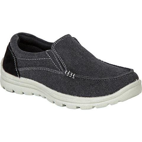 Deer Stags Boys' Alvin Moc Toe Slip On Black