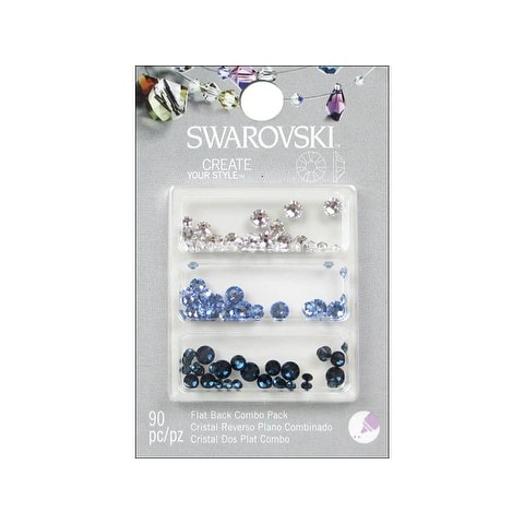 Cousin Swarovski Flatback Mix C Blue 90pc