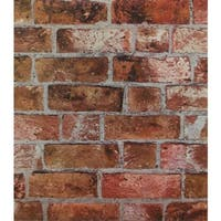 York Wallcoverings HE1046 Brick Wallpaper - N/A
