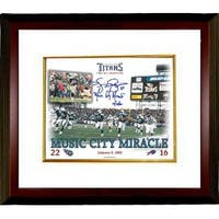 Music City Miracle signed Tennessee Titans 8x10 Photo w Kevin Dyson signature Custom Framed