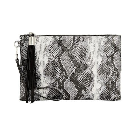 INC International Concepts Molyy Snake Party Wristlet Clutch Charcoal - One Size