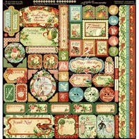 """12 Days Of Christmas - Graphic 45 Deluxe Collector's Edition Pack 12""""X12"""""""