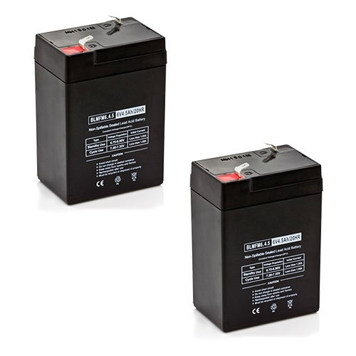 Replacement AGM SLA Battery 6V-4.5Ah (2-Pack) Replacement AGM SLA Battery